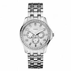 GUESS ρολόγια ΤΣΑΛΔΑΡΗΣ - W0147L1 - GUESS day-date steel. Γυναικείο quartz  ρολόι GUESS 666b235611c