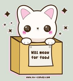 Will Meow For Food :3 by A-Little-Kitty.deviantart.com on @deviantART