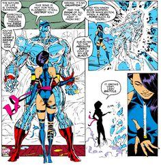 "Betsy has to collect all of Lord Mandarin's power rings, so all of the dream X-Men are doomed ""Uncanny X-Men December 1989 "" Marvel Comics Superheroes, Marvel Characters, X Men, Jim Lee Art, D Mark, Dope Cartoons, Western Comics, Psylocke, Marvel Women"