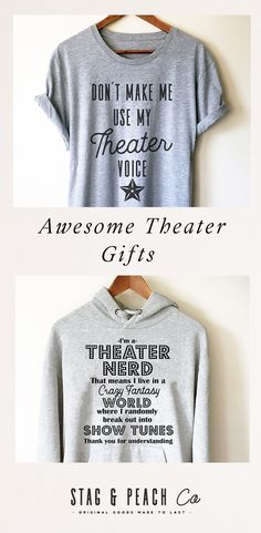 Click to shop these awesome theater gifts for a director, thespian, drama teacher,