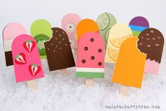 Love these Popsicle cards.