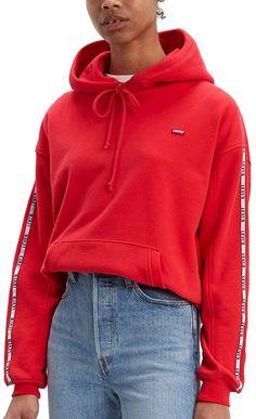Toller Wohlfühlhoodie auch mit Ü40 ;-)  Bekleidung, Damen, Sweatshirts & Kapuzenpullover, Kapuzenpullover Levis, Shirt Bluse, Blazer, Hoodies, Damen Sweatshirts, Hooded Jacket, Athletic, Tops, Sweaters