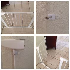 Problem solved! Need to keep a baby gate open? Use a Command hook! Simple enough!