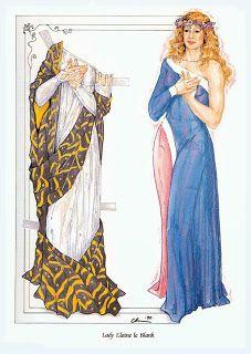 Paper Dolls: Lady Elaine de Blank Camelot
