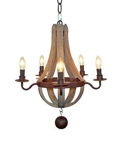 Farmhouse Chandelier Lights Antique Candle Style Wood Pendant Lamp Decor Dining Room 5 Warm Light Excluded Walmart Wine Barrel Chandelier, Farmhouse Chandelier Lighting, Wooden Chandelier, Chandelier Ceiling Lights, Vintage Chandelier, Ceiling Pendant, Empire Chandelier, Pendant Lights, Pendant Lamps