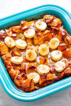Design <b>Design.</b> Banana Bread Pudding - Averie Cooks. Caramel Recipes, Banana Recipes, Pudding Recipes, Köstliche Desserts, Delicious Desserts, Dessert Recipes, Snack Recipes, Teller An Der Wand, Bagdad Cafe
