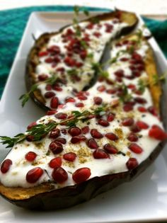ROASTED EGGPLANT WITH BUTTERMILK SAUCE
