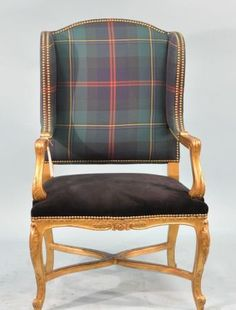 Oh, Ralph Lauren, love this chair and fabric choice.