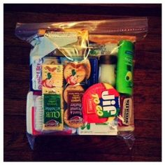 "Create ""Blessing Bags"" to hand out to the homeless in your local area."