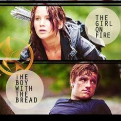 Katniss and peeta. I just realized something. When people get married in 12 she said they throw bread in a fire. Peeta gave her burnt bread. And together they would burn bread.