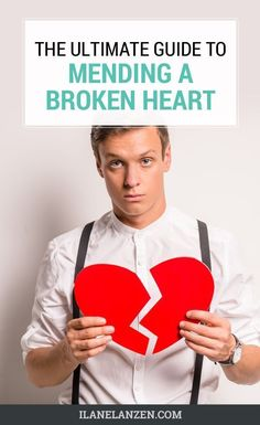 Some people never recover from a broken heart. They hold the pain inside of them and let it drive their life into a state of constant unhappiness and despair. But, it doesnt have to be that way. Everyone can mend a broken heart and start to feel better a