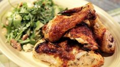 Clinton Kelly's Buttermilk  Roasted Chicken with Baby Arugula Salad