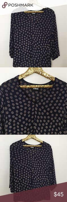 NEW REFORMATION BLOUSE Small. Navy Reformation Tops Blouses