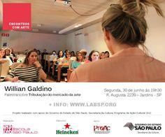 O Instituto Escola São Paulo e o LAB SP convidam o público para palestra com Willian Galdino na próxima segunda-feira, dia 30 de Setembro, a partir das 19h30. A palestra é gratuita, porém, os interessados em participar devem encaminhar um e-mail para: instituto@institutoescolasp.org.