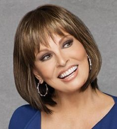 Raquel Welch is absolutely gorgeous and ageless...she makes incredible wigs.  Love the cut and bangs on this one.
