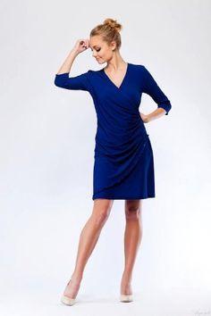 Womens Elegant Faux Wrap Slimming V Neck 3/4 Sleeve Dress Argenti, http://www.amazon.com/dp/B008F9RG3W/ref=cm_sw_r_pi_dp_VRW9qb0PRB7EE