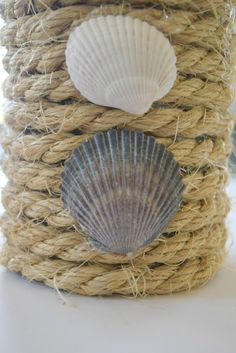 shells,tin can upcycle a low cost and simple craft to decorate the home.