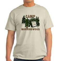 Camp Morning Wood Adult Ash Grey T-Shirt on CafePress.com