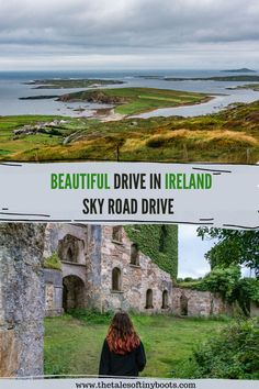 Sky Road Drive is a beautiful, scenic Drive in Connemara Galway Ireland. We all love to travel Ireland for it's green landscape, castles and amazing scenery. Sky road in Galway is a beautiful route with a lot of things to do and loads of places to photograph along the way. It starts in Clifden in Connemara, going out along the west coast and back around to Clifden again. Clifden Ireland, Galway Ireland, Cork Ireland, Ireland Vacation, Ireland Travel, Ireland Landscape, Green Landscape, Driving In Ireland, Coogee Beach