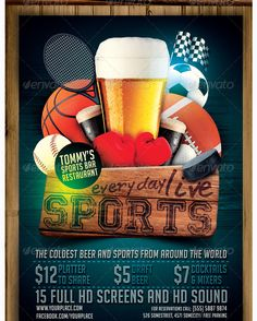 Sports Bar Flyer Template   Party Flyer Templates For Clubs Business U0026  Marketing