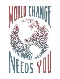 World change needs YOU. It may seems like your efforts are small, but every little thing brings us closer to a world of peace, happiness, and health. Wear this unique design featuring a mandala-inspired globe and encourage others to join you in the fight for change!