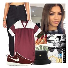"""""""Something New X Zendaya ft Chris Brown"""" by jo-ellehadi ❤ liked on Polyvore featuring T By Alexander Wang, NIKE, women's clothing, women, female, woman, misses and juniors"""