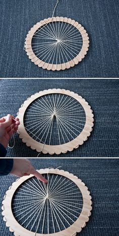 How to Warp The Unusual Pear Circle Loom A few months ago, I purchased this beautiful circle loom from The Unusual Pear, but had not gotten around to using it until now. This is my first time weaving Learn how to warp up one of The Unusual Pear Round Weav Loom Knitting Projects, Weaving Projects, Weaving Art, Loom Weaving, Tapestry Weaving, Knitting Patterns, Hand Weaving, Knitting Tutorials, Loom Patterns
