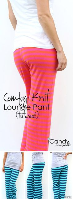 Easy and Cheap DIY Pants Design for Women by DIY Ready at http://diyready.com/diy-clothes-pants-skirts-for-women/