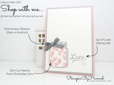 Valentines Inspiration cute Love card with Jar of Love from Stampin' Up!
