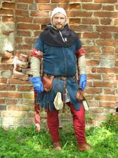 Cottehardie C2 » 14h - 15th century outerwear » Medieval On-line Shop » Kokosh's Manufacture - gambeson, medieval chainmail and clothing online shop