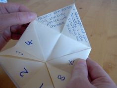 Things to Make and Do - Make a Cootie Catcher (Origami Fortune Teller) Origami Fortune Teller Sayings, Childhood Toys, Childhood Memories, Finger Games, Ddr Museum, Celebrities Then And Now, Arts And Crafts Projects, Diy Projects, I Remember When