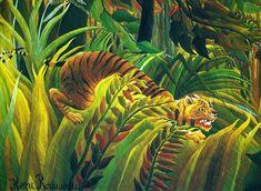 Tigre - Sorpresa - dettaglio del quadro di Henri Rousseau - 1891