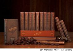 Chocolates for booklovers by the San Francisco Chocolate Co.