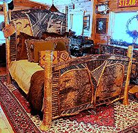 The Ralph Kylloe Gallery - rustic furniture furnishings and accessories. Lodge Furniture, Twig Furniture, Adirondack Furniture, Furniture Ideas, Rustic Design, Rustic Style, Mexican Designs, Cabins And Cottages, Log Homes