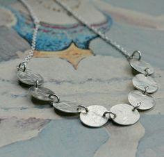 SALE LAST ONE sterling silver stepping stones por eRosasjewelry