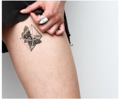 Found this and really liked it Moth geometric tattoo #geometrictattoo #mothtattoo #tattoo