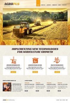 More than website templates available! Choose your theme and build a professional looking site today! Joomla Templates, Wordpress Template, Agricultural Tools, Web Design Inspiration, Ad Design, Agriculture, Country Roads, Technology, Business