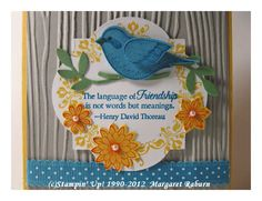 stampin up ideas using language of friendship - Google Search
