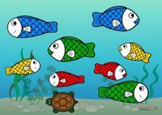 Первые аппликации: «Рыбки»
