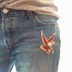 The Eagle embroidered patch by Les Tatoués