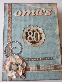 Omas 80. Geburtstag Cover Cover, Frame, Website, Ideas, School, Gifts For Birthday, Picture Frame, Frames, Hoop