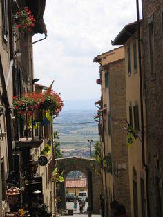 Cortona, street of Under the Tuscan Sun