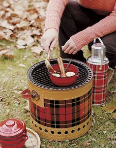 How cool is this for a portable grill, who'd have thought. Totally love the thermos, wish I could find one.