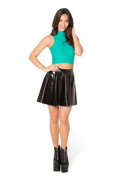 Matte Jade High Neck Crop (WW $35AUD / US $30USD) by Black Milk Clothing
