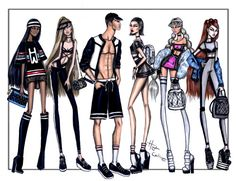 Athleisure collection by Hayden Williams illustration