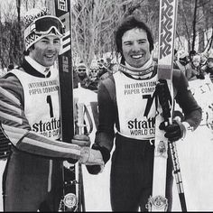 Ingemar Stenmark and Phil Maher ! Winter Olympic Games, Winter Games, Winter Olympics, Elan Ski, World Cup Skiing, Ski Equipment, Ski Racing, Alpine Skiing, Oldschool