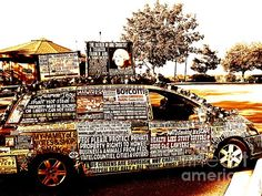 Freedom of Speech On Wheels by Desiree Paquette. Available online at Fine Art America. #firstamendment #freedomofspeech #constitution