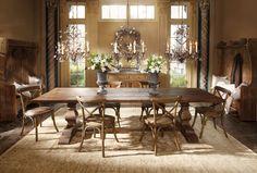 Arhaus...love the farmhouse table!