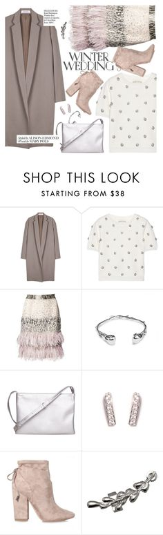 """""""winter wedding"""" by thepommier ❤ liked on Polyvore featuring Organic by John Patrick, Alice + Olivia, Matthew Williamson, Kendall + Kylie and Whiteley"""