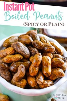 Instant Pot Boiled Peanuts – The quickest and easiest way make this tasty southern snack. Whether you like them spicy cajun, just plain salty or in between this is the recipe for you! Best Boiled Peanuts Recipe, Crockpot Boiled Peanuts, Cajun Boiled Peanuts, Boil Peanuts Recipe, Peanut Recipes, Spicy Recipes, Crockpot Recipes, Keto Recipes, Easy Brunch Recipes
